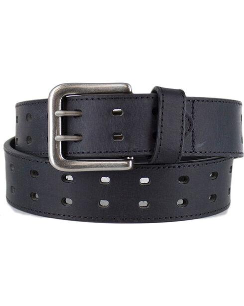 American Worker®  Men's Double Buckle Belt, Black, hi-res