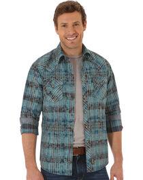Wrangler Men's Retro Plaid and Paisley Long Sleeve Shirt, , hi-res
