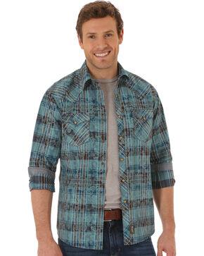 Wrangler Men's Retro Plaid and Paisley Long Sleeve Shirt, Multi, hi-res