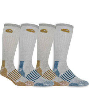 Carhartt Men's 4-Pack Cold Weather Crew Socks , Beige/khaki, hi-res