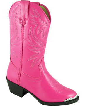 Smoky Mountain Toddler Girls' Mesquite Western Boots - Round Toe, Pink, hi-res