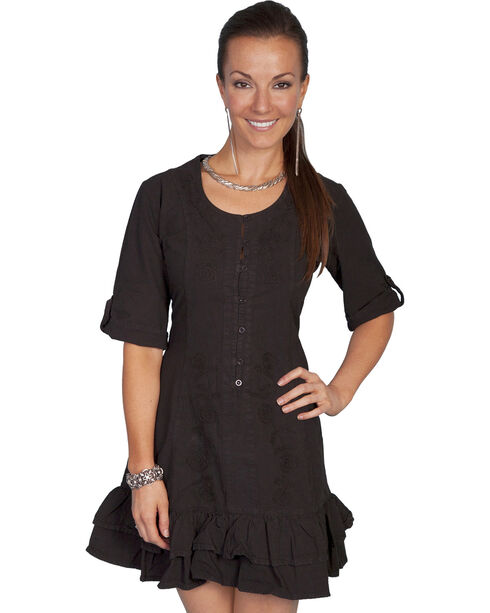 Scully Women's 3/4 Sleeve Dress, Black, hi-res
