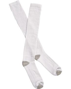 Justin Men's JUSTDRY Over-the-Calf Socks , White, hi-res