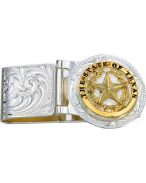 Montana Silversmiths Texas Star Hinged Money Clip, , hi-res