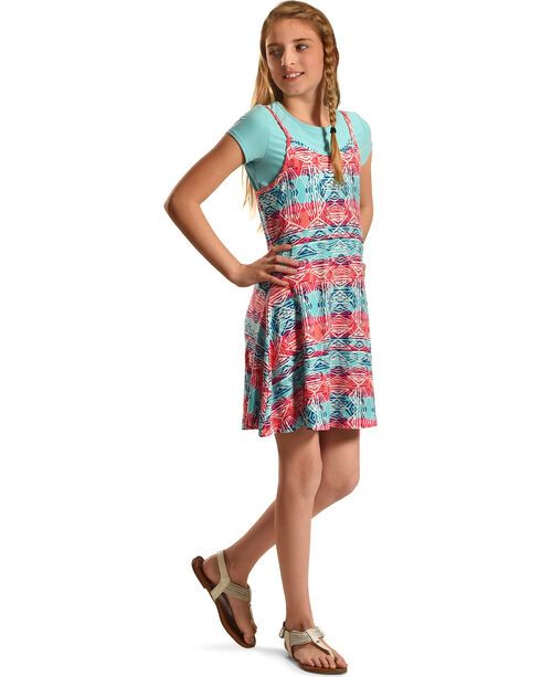 Derek Heart Girls' Blue Tank Swing Dress , Blue, hi-res