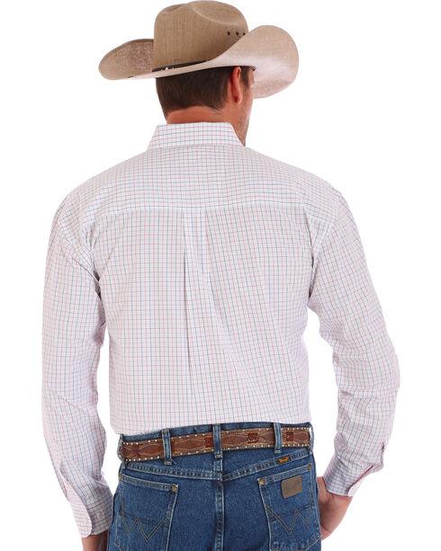 Wrangler Men's George Straight Long Sleeve Shirt, White, hi-res