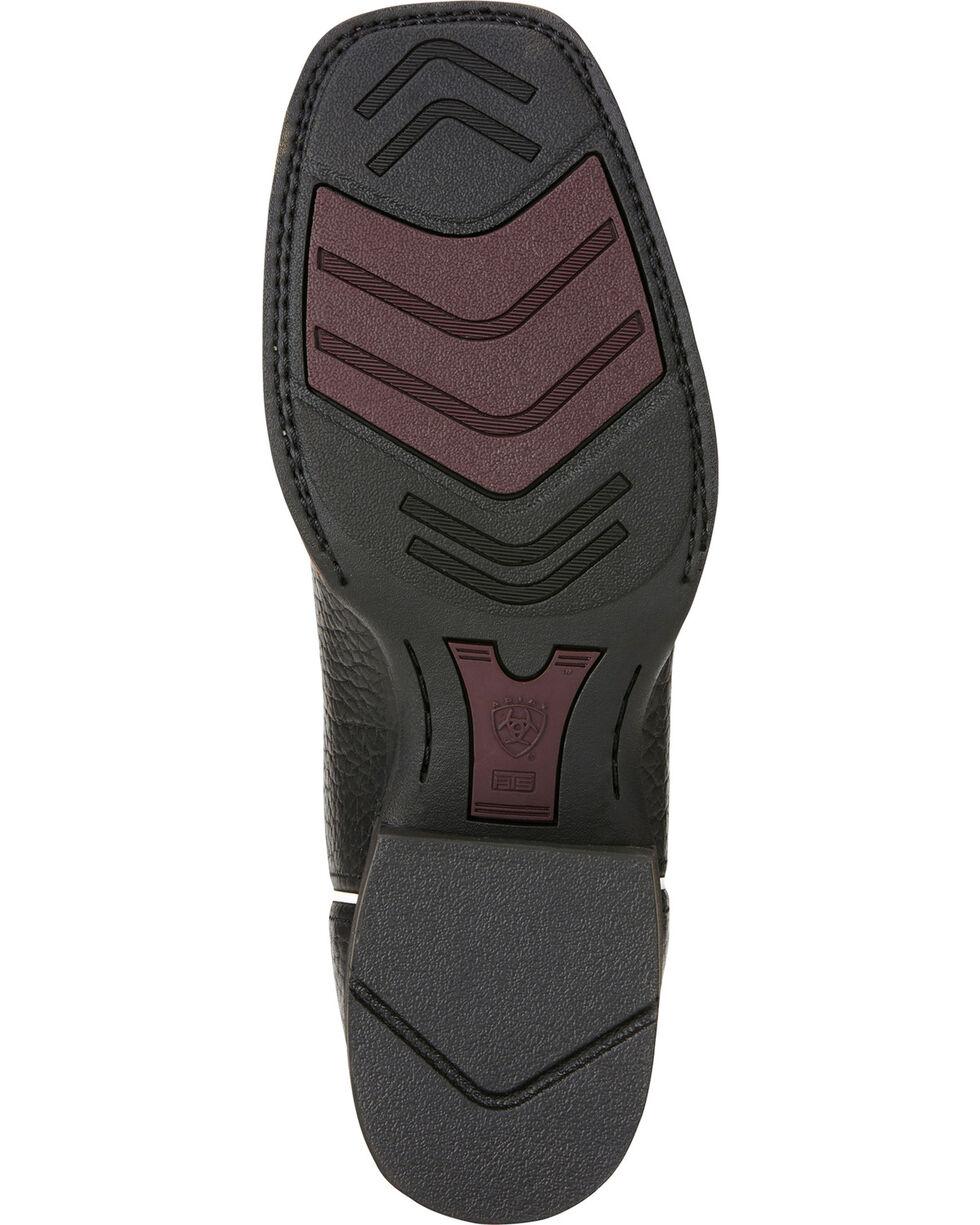 Ariat Men's VentTEK Quickdraw Square Toe Western Work Boots, Black, hi-res