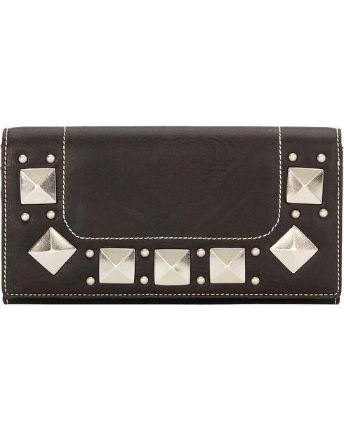 Bandana by American West Houston Black Flap Wallet, Black, hi-res