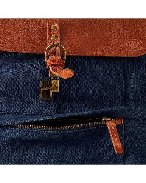 Timberland Nantasket Canvas and Leather Backpack , Navy, hi-res