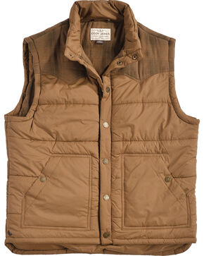 Cody James Men's Arctic Western Vest, Brown, hi-res