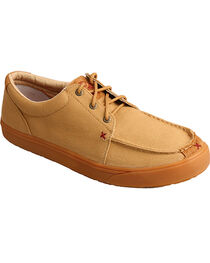 Hooey Lopers by Twisted X Men's Khaki Canvas Shoes , , hi-res