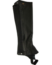 Ovation Women's Pro Top Grain Leather Half Chaps, , hi-res