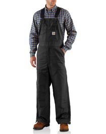 Carhartt Men's Flame-Resistant Midweight Quilt-Lined Bib Overalls, , hi-res