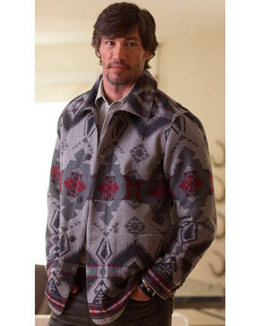 Ryan Michael Men's Grey Wool Blanket Jacket , Grey, hi-res