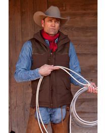STS Ranchwear Men's Lucas Down Style Brown Vest, , hi-res