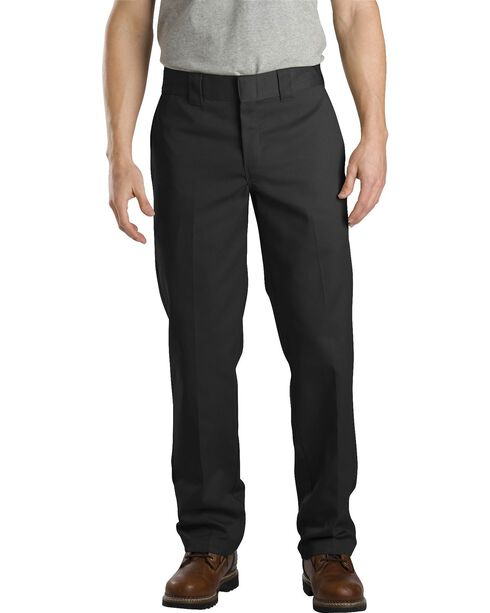 Dickies Slim Straight Work Pants, Black, hi-res