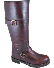 Smoky Mountain Women's Alyssa Tall Western Boots - Round Toe , Burgundy, hi-res