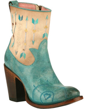 Junk Gypsy by Lane Women's Wanderlust Western Boots, Turquoise, hi-res