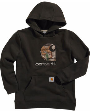 Carhartt Boys' Big Camo C Sweatshirt, Brown, hi-res