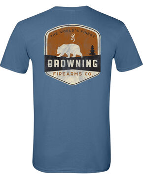 Browning Men's Bear Banner Short Sleeve Tee, Indigo, hi-res