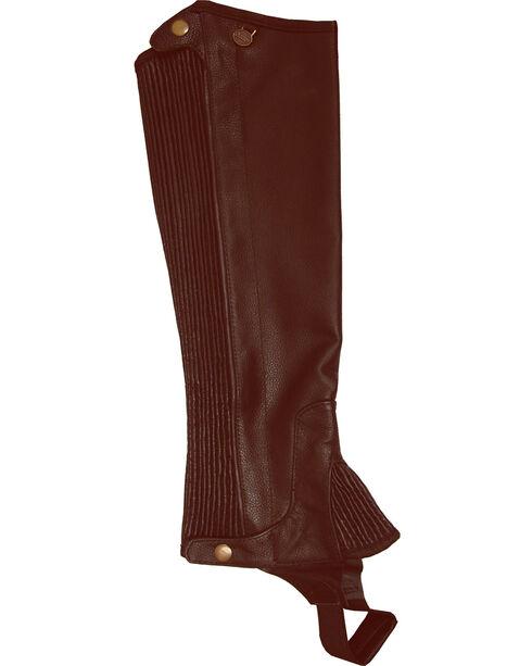Ovation Kids' Pro Top Grain Leather Half Chaps, , hi-res