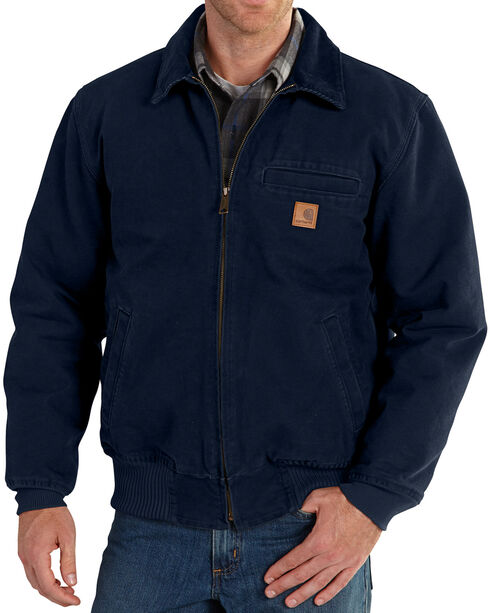 Carhartt Men's Navy Bankston Jacket - Big & Tall, Navy, hi-res