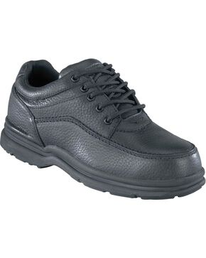 Rockport Works World Tour Casual Oxford Work Shoes - Steel Toe, Black, hi-res