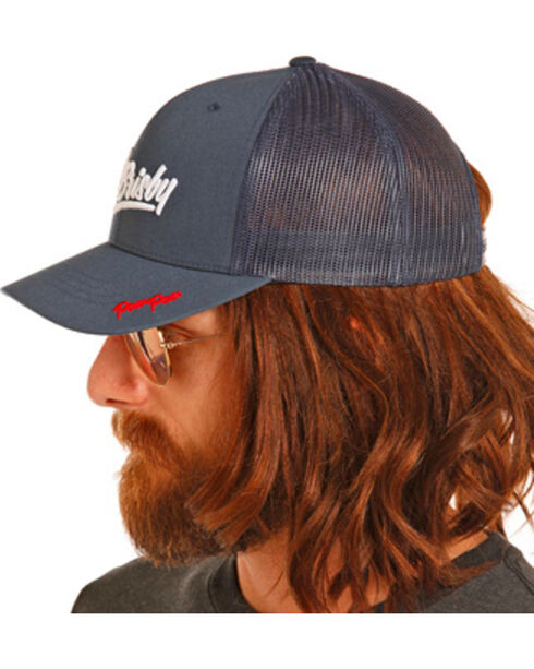 Rock & Roll Cowboy Men's Dale Brisby Navy Mesh Back Trucker Cap, Navy, hi-res
