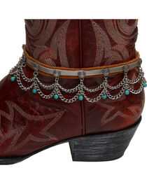 Cowgirl Confetti by AndWest Chain & Turquoise Bead Boot Chain/Choker, , hi-res