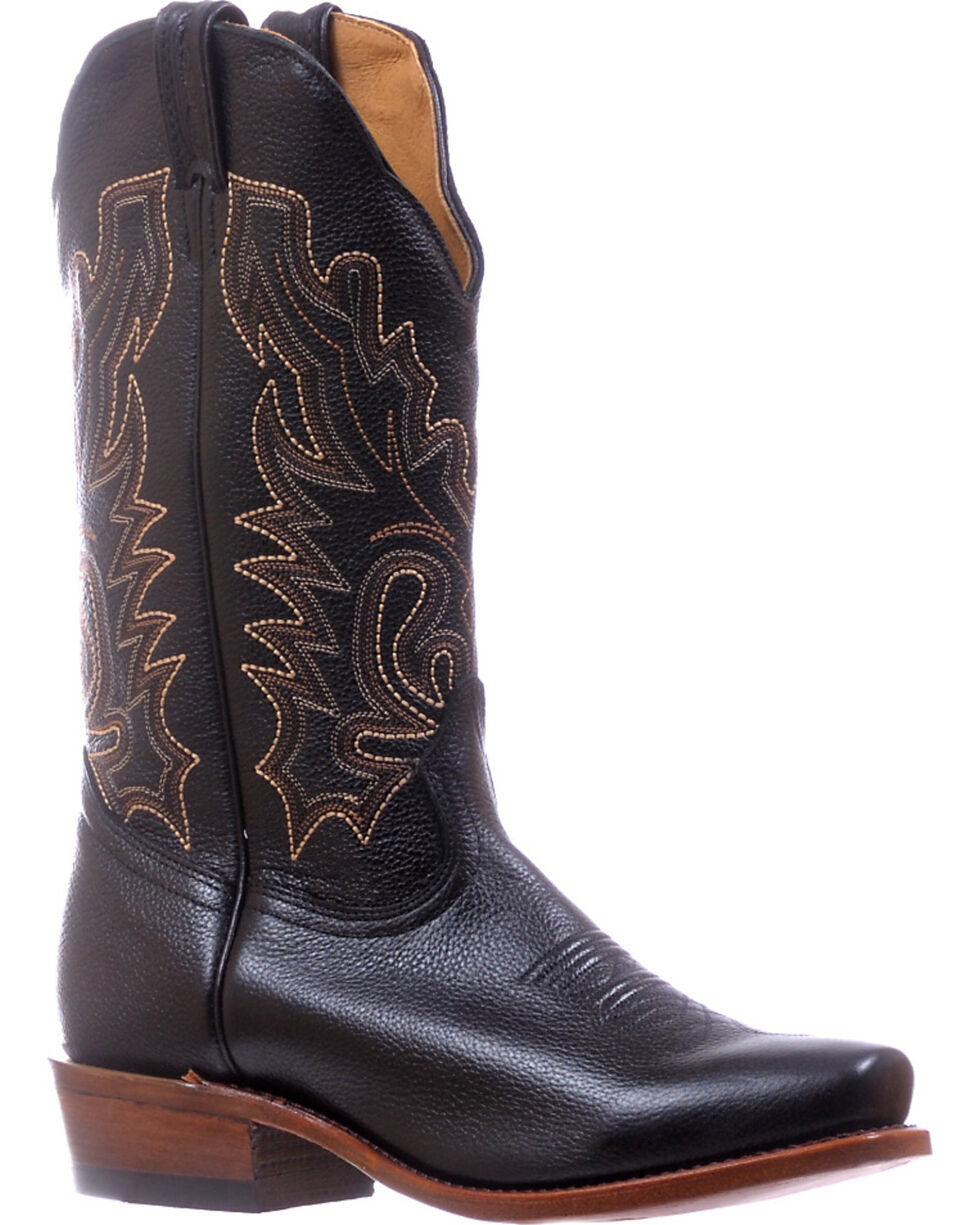 Boulet Men's Sporty Black Cutter Cowboy Boots - Cutter Toe, Black, hi-res