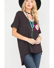 MM Vintage Abstract Beauty Top , , hi-res