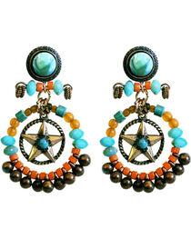Treska Beaded Hoop and Star Earrings, , hi-res