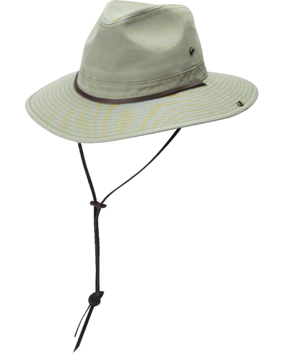 DPC Authentic Khaki Safari Hat with Side Snaps, Khaki, hi-res