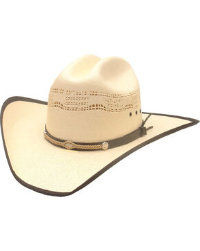 Western Express Boys' Bangora Bound Edge Cowboy Hat, White, hi-res