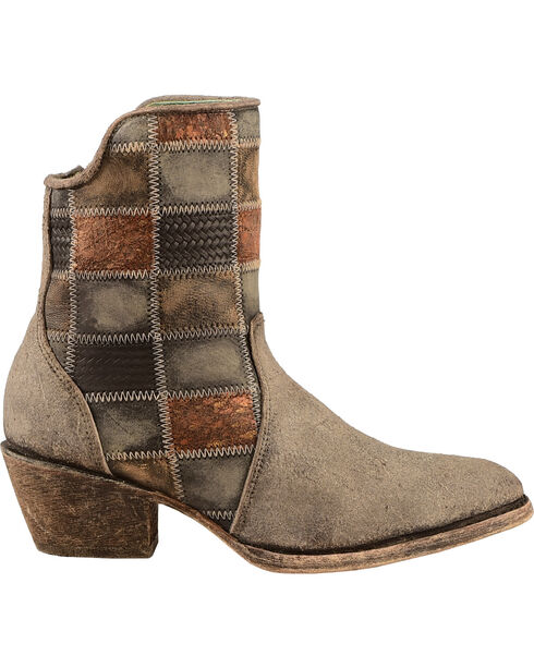 Corral Women's Patchwork Western Booties, Chocolate, hi-res