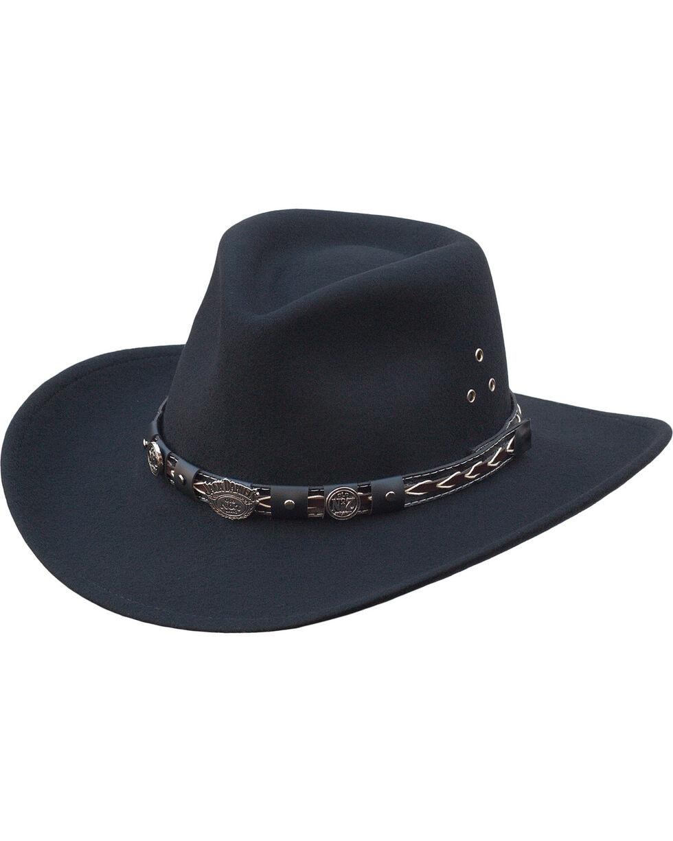 Jack Daniel's Men's Crushable Wool Western Hat, Black, hi-res