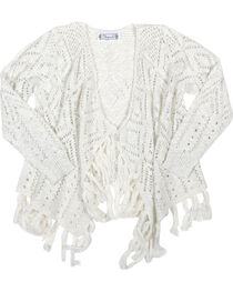 Shyanne® Girls'  Pointelle Cardigan, , hi-res
