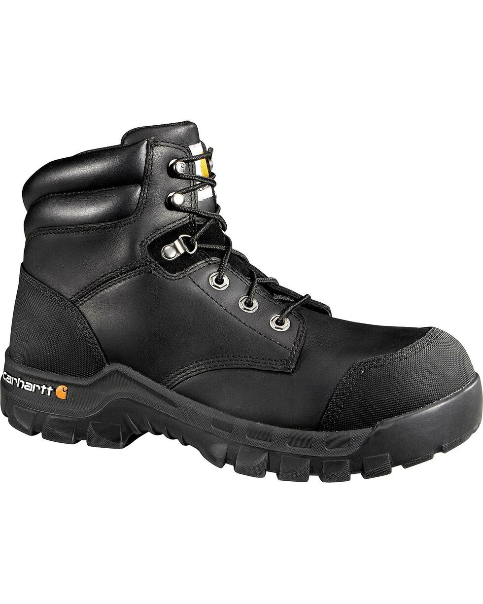 "Carhartt 6"" Composite Toe Rugged Flex Waterproof Work Boots, Black, hi-res"