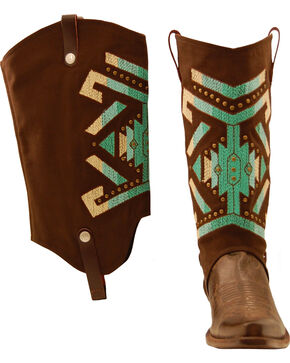 BootRoxx Aztec Rain Boot Covers, Brown, hi-res