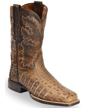 "Dan Post Men's 11"" Denver Cowboy Certified Exotic Boots, Bay Apache, hi-res"