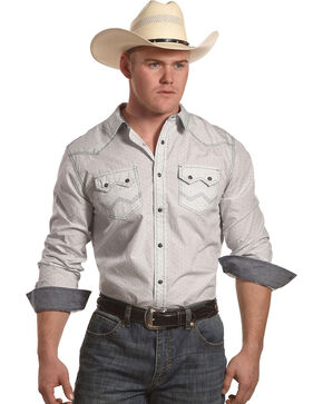 Cody James Men's Ocotillo Long Sleeve Shirt, White, hi-res