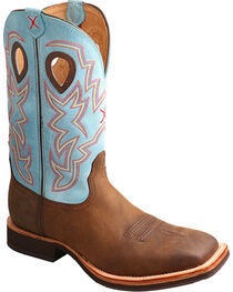 Twisted X Men's Brown Horseman Boots - Square Toe , , hi-res