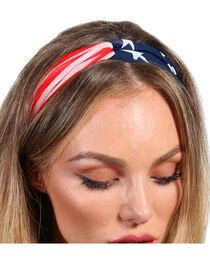 Shyanne® Women's American Flag Headband, , hi-res