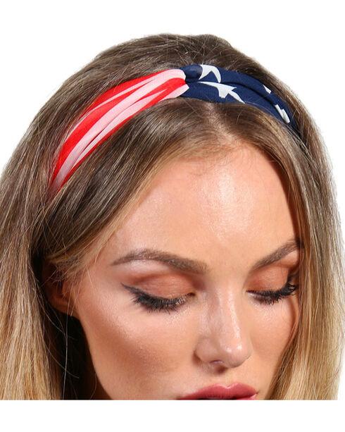 Shyanne® Women's American Flag Headband, Multi, hi-res
