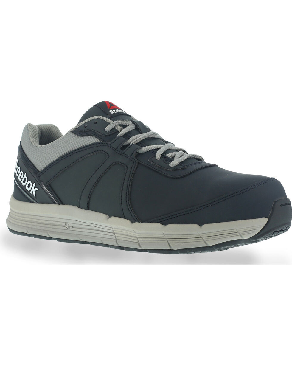 Reebok Men's Leather Athletic Oxfords - Steel Toe, Navy, hi-res