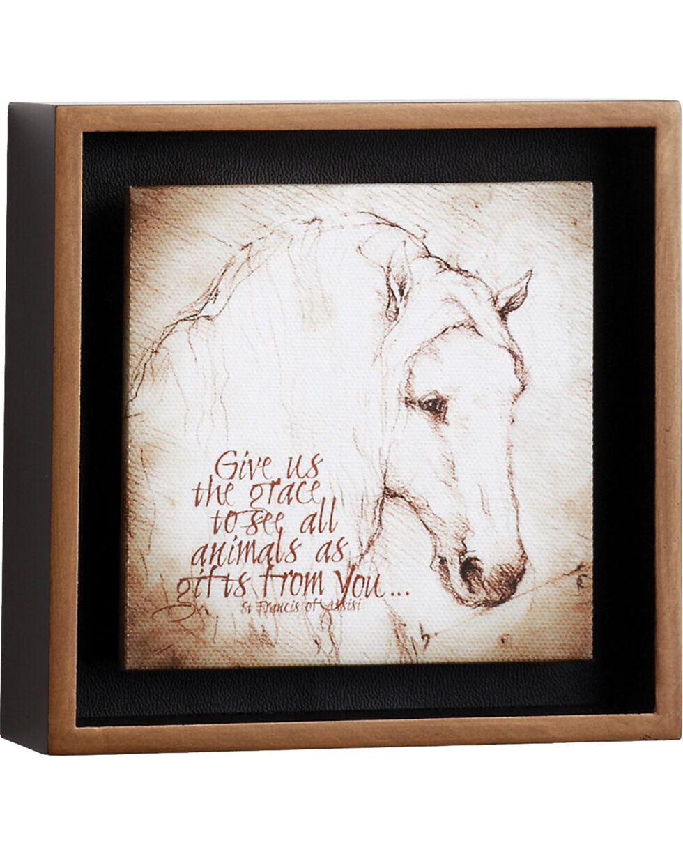 Big Sky Carvers Horse Grace Over Us Shadow Box , Brown, hi-res
