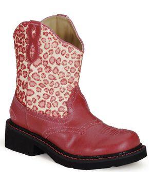 Roper Kids Chunk Riderlite II Western Boots, Pink, hi-res