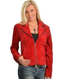 Cripple Creek Red Leather Jacket, , hi-res