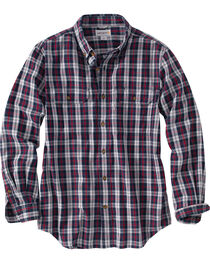 Carhartt Men's Relaxed Fit Plaid Long Sleeve Shirt, , hi-res