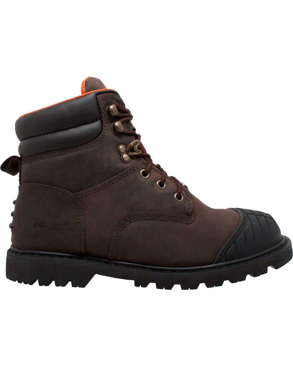 "Ad Tec Men's 6"" Brown Oiled Leather Work Boots - Steel Toe, Brown, hi-res"